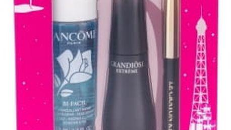Lancome Grandiose Extreme dárková kazeta pro ženy řasenka 10 ml + tužka na oči Le Crayon Khol 0,7 g 01 Noir + odličovací přípravek na oči Bi-Facil 30 ml 01 Noir Extreme