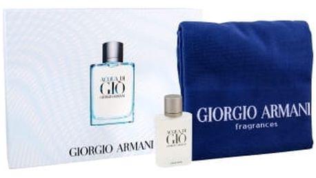 Giorgio Armani Acqua di Gio Pour Homme dárková kazeta pro muže toaletní voda 100 ml + ručník