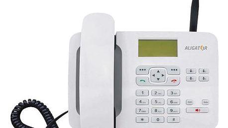 Domácí telefon Aligator T100 (stolní) bílý (AT100W)