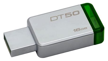 USB Flash Kingston DataTraveler 50 16GB zelený/kovový (DT50/16GB)