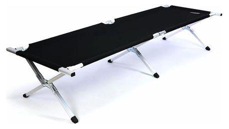 Divero 35119 Přenosná hliníková skládací postel 210 x 64 x 42 cm - černá