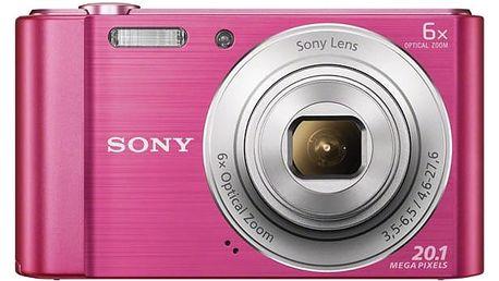 Digitální fotoaparát Sony Cyber-shot DSC-W810P růžový