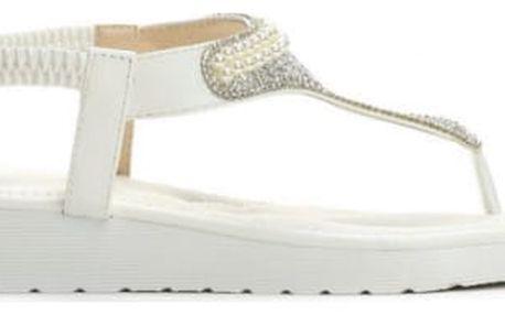 Dámské bílé sandály Pink 4147