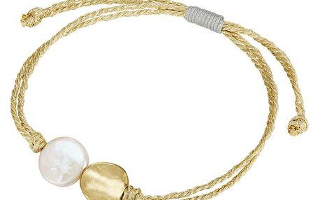 Nastavitelný náramek Pearls of London s plochou perlou