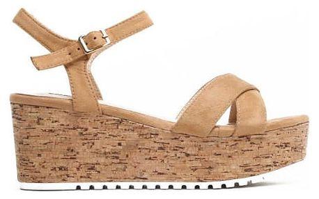 Dámské hnědé sandály na platformě Violla 2081