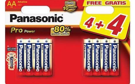 Baterie alkalická Panasonic Pro Power AA, 4+4 ks (LR6PPG/8BW)