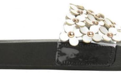 Dámské stříbrné pantofle Debbi 051