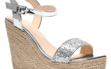 Dámské stříbrné sandály Birke 2013