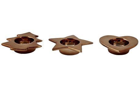 Sada 3 svícnů KJ Collection Tealight Bronze