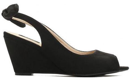 Dámské černé sandály na klínku Tamisha 3205