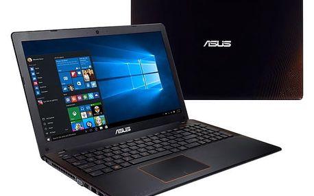 Notebook Asus F550VX-DM604T černý/oranžový + dárky (F550VX-DM604T)