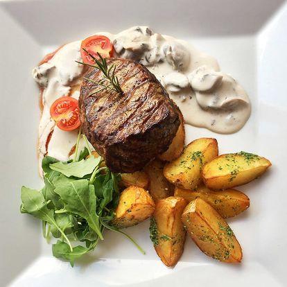 Hovězí steak z argentinské svíčkové s přílohou