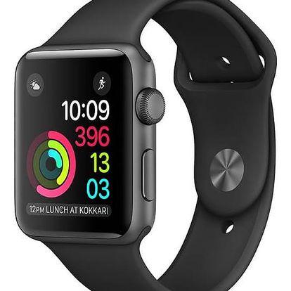 Apple Watch Series 1 42mm pouzdro z vesmírně šedého hliníku – černý sportovní řemínek (MP032CN/A)