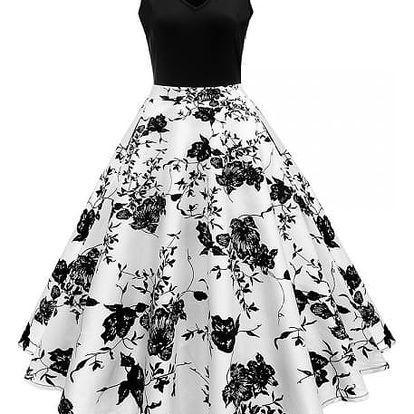 Dámské šaty ve stylu vintage - 2-M - dodání do 2 dnů