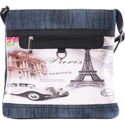 Tapple Dámská kabelka přes rameno Paříž Retro car
