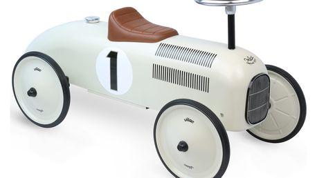 VILAC Kovové odrážedlo - Historické závodní auto - krémová