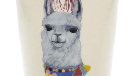 Cestovní porcelánový hrnek s víčkem Duo Gift Lama, 380 ml