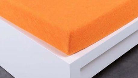 XPOSE ® Froté prostěradlo Exclusive dvoulůžko - oranžová 160x200 cm