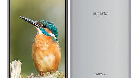 Mobilní telefon Aligator S5070 Dual SIM (AS5070SR) stříbrný Software F-Secure SAFE, 3 zařízení / 6 měsíců v hodnotě 979 Kč