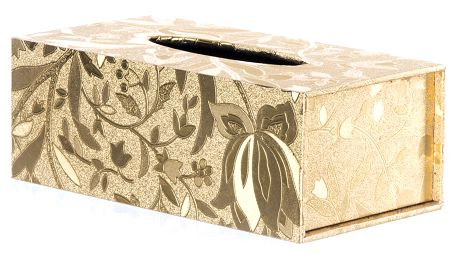 Krabička na papírové kapesníky Zlaté tulpany
