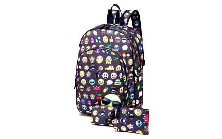 SET: Dívčí černý školní batoh Sallie 6629
