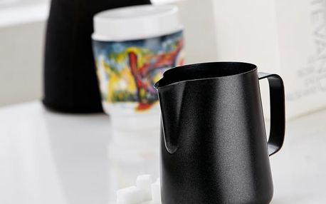 Černá nerezová mléčenka Steel Function, 150 ml