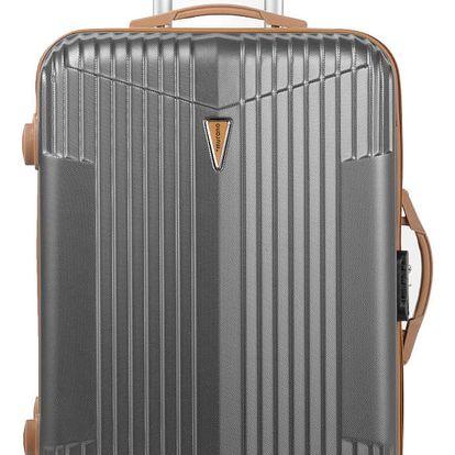 Šedý kufr na kolečkách Murano Europa