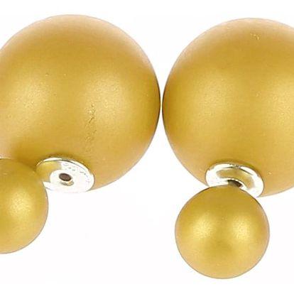 Fashion Icon Náušnice kuličky oboustranné matné