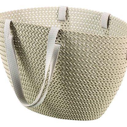 CURVER 41161 Taška nákupní , pikniková bag ,imitace háčkování - krémová