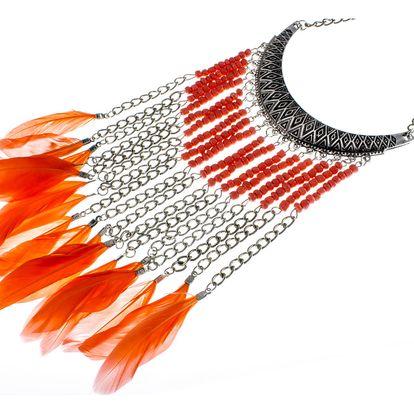 Fashion Icon Náhrdelník indiánský s pírky