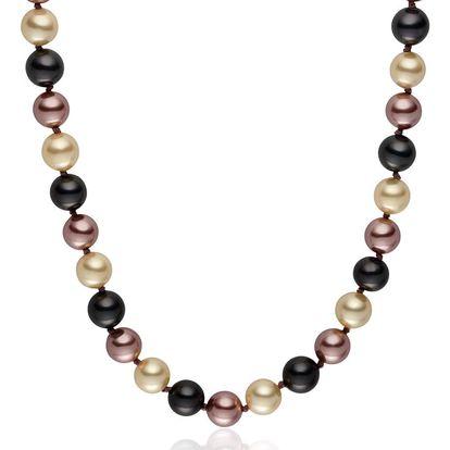 Hnědý perlový náhrdelník Pearls of London Mystic, 42cm