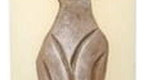 Dekorativní svíčka Kočka béžová, 22 cm