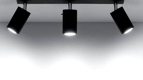 Černé stropní světlo Nice Lamps Ethna