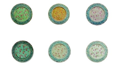 Sada 6 cínových talířů Villa d'Este Sottopiatto