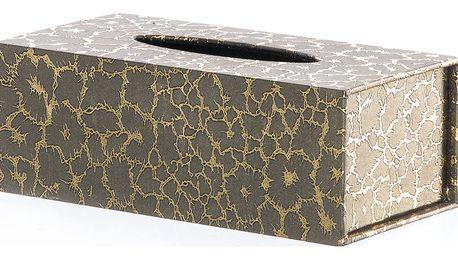 Krabička na papírové kapesníky Gold zlaté