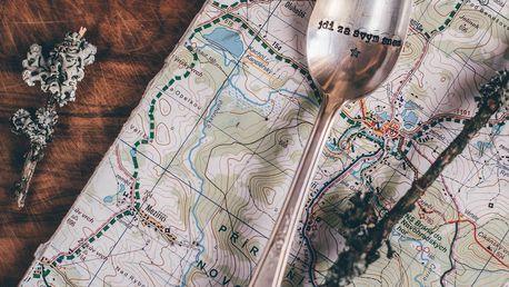 La de da! Living Postříbřená čajová lžička Jdi za svým snem, stříbrná barva, kov