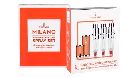 Travalo Milano 3x5 ml plnitelný flakón unisex Orange