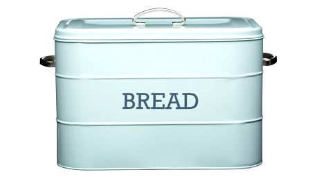 Modrá plechová dóza na chléb Kitchen Craft Nostalgia