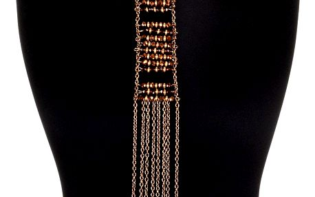 Fashion Icon Náhrdelník dlouhý etno s pestrobarevnými korálky