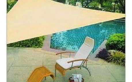 Garthen 56788 Sluneční plachta trojúhelníková 3,6 m - písková barva