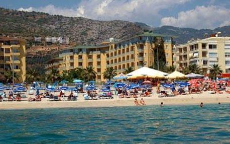 Turecko - Alanya na 8 až 9 dní, all inclusive s dopravou letecky z Brna nebo Prahy 50 m od pláže