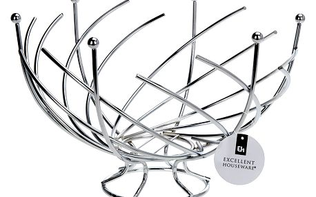 EH Excellent Houseware Košík na ovoce-chromovaná ocel