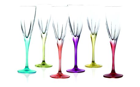 Sada 6 sklenic na sekt RCR Cristalleria Italiana Gemma
