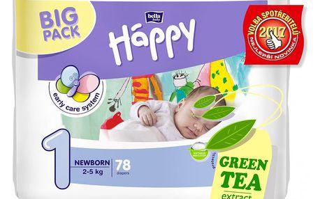 BELLA HAPPY Newborn 1 (2-5 kg) Big Pack 78ks - jednorázové pleny