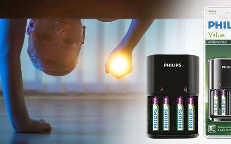 Nabíječky Philips včetně tužkových NiMH baterií