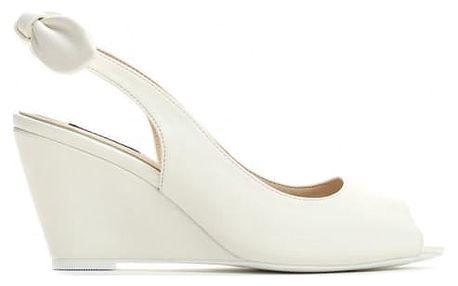 Dámské bílé sandály na klínku Tamisha 3205
