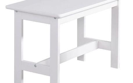 Bílý dětský stoleček z masivního borovicového dřeva Pinio Baby