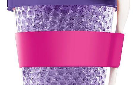 Fialový termokelímek na jogurt Asobu Chill Yo 2 Go, 380 ml