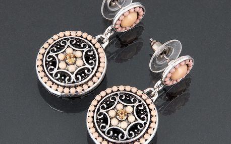 Fashion Icon Náušnice etno s kytkou ornamenty