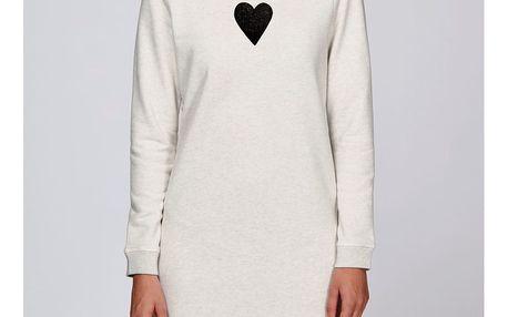 Dámské krémové sportovní šaty s motivem Spolu od Lény Brauner & IM Cyber pro KlokArt, vel.M